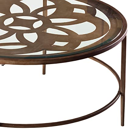 Merveilleux Svitlife Harriet Bronze And Glass Coffee Table Base Square Italian Round  Hollywood Hoof Bamboo Foot