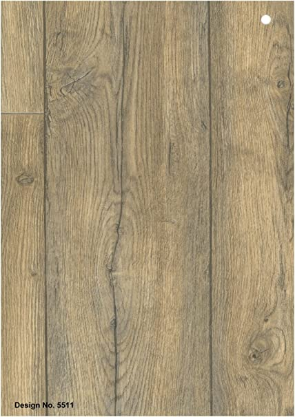5511 Wood Effect Anti Slip Vinyl Flooring Home Office Kitchen