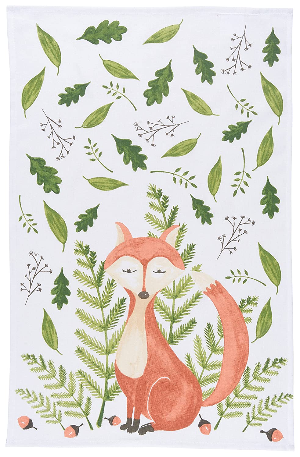 Now Designs Printed Kitchen Towel, Freddy Fox