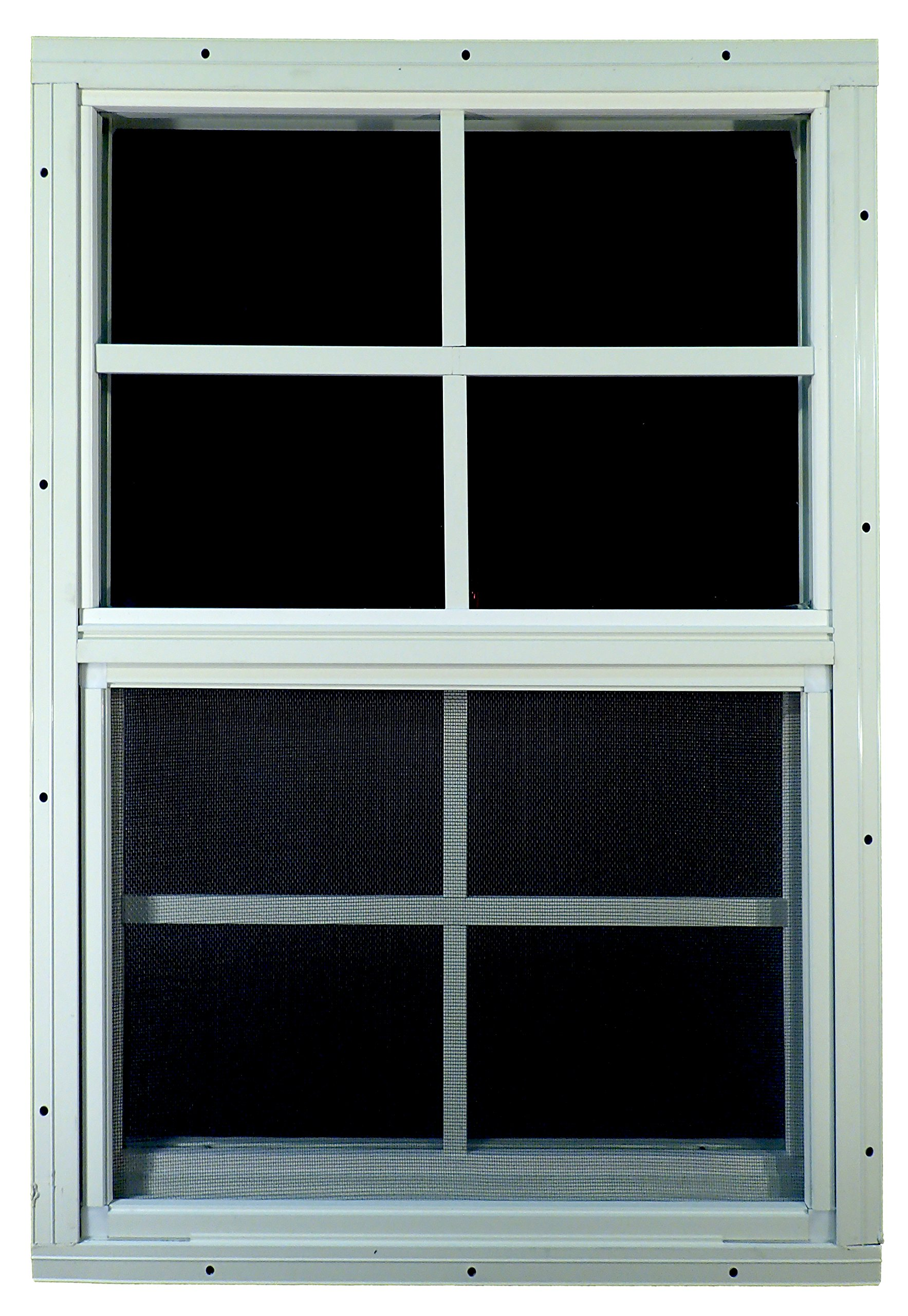 Shed Windows 18'' W x 27'' H - Flush Mount - Playhouse Windows (White)