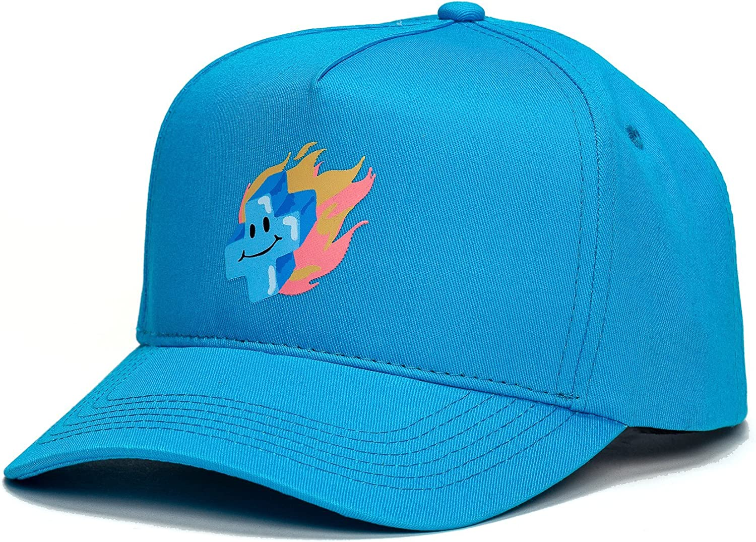 Pink Dolphin Mens Mr Positive Snapback Hat Blue