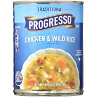 Progresso Soup, Traditional, Chicken and Wild Rice Soup, 19 oz Cans (Pack of 12)