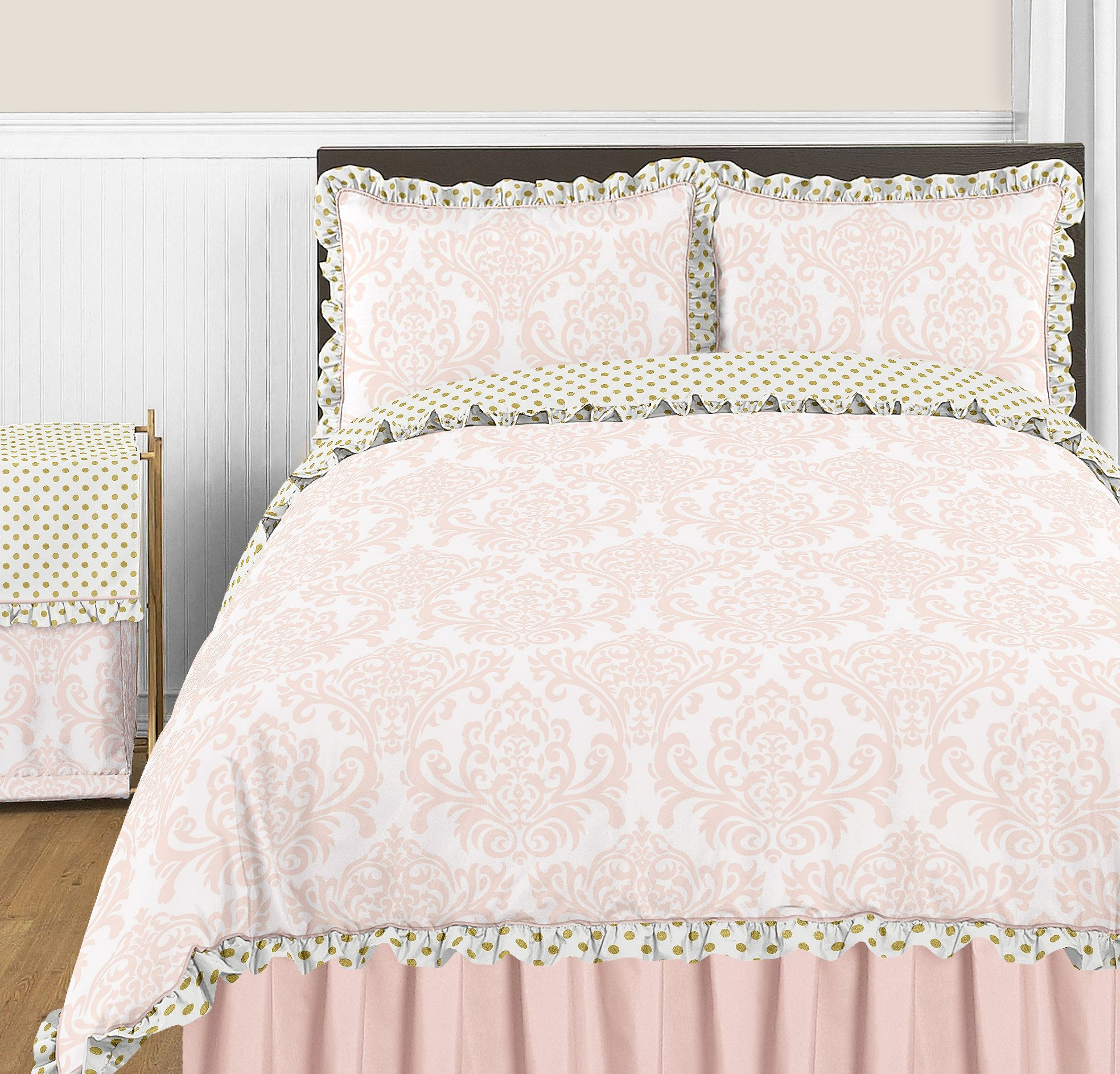 Sweet Jojo Designs Blush Pink Queen Bed Skirt for Girls Amelia Collection Bedding Sets by Sweet Jojo Designs (Image #2)