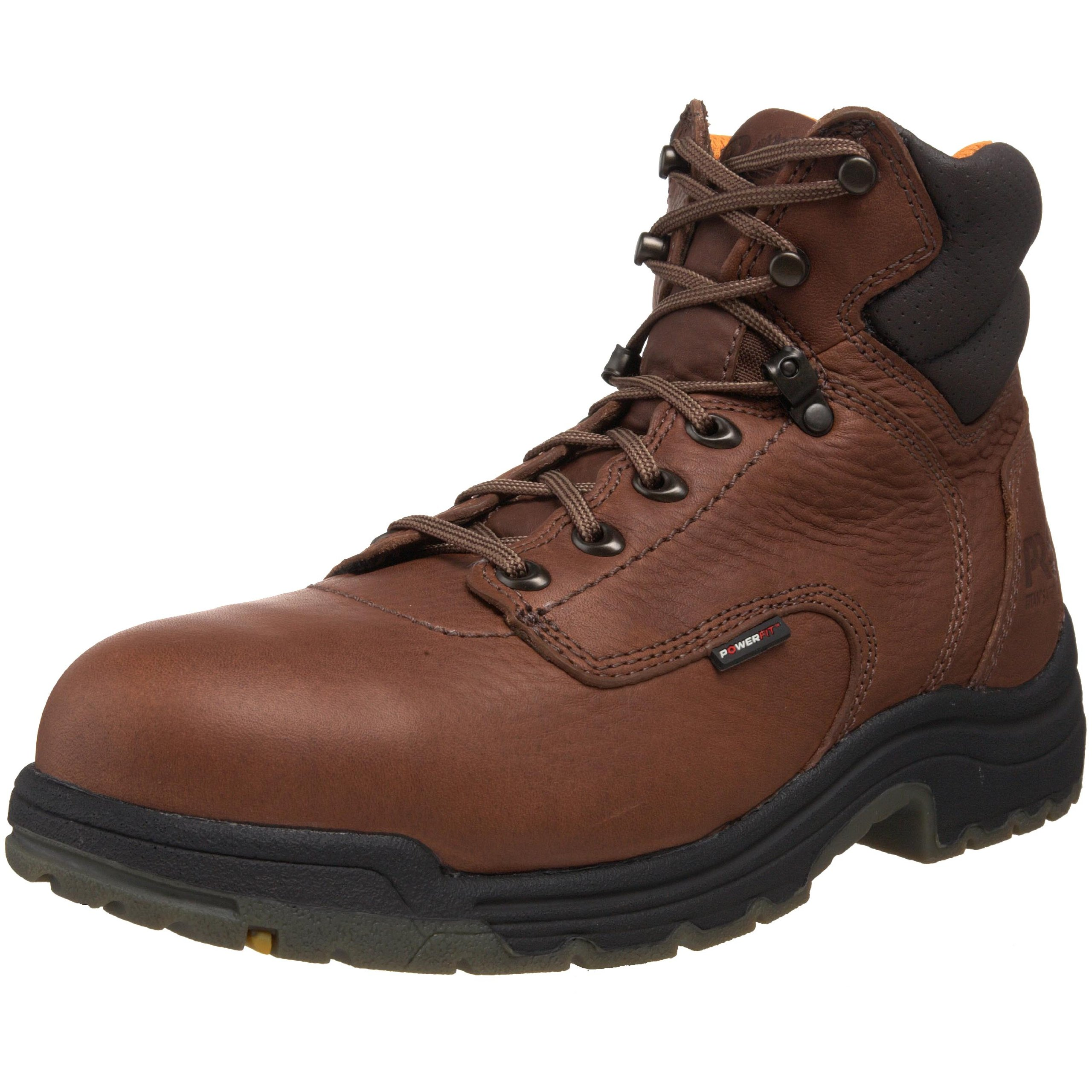 Men's 6 inch Timberland Pro TiTAN Safety Toe Boots Coffee, Coffee, 10 2E