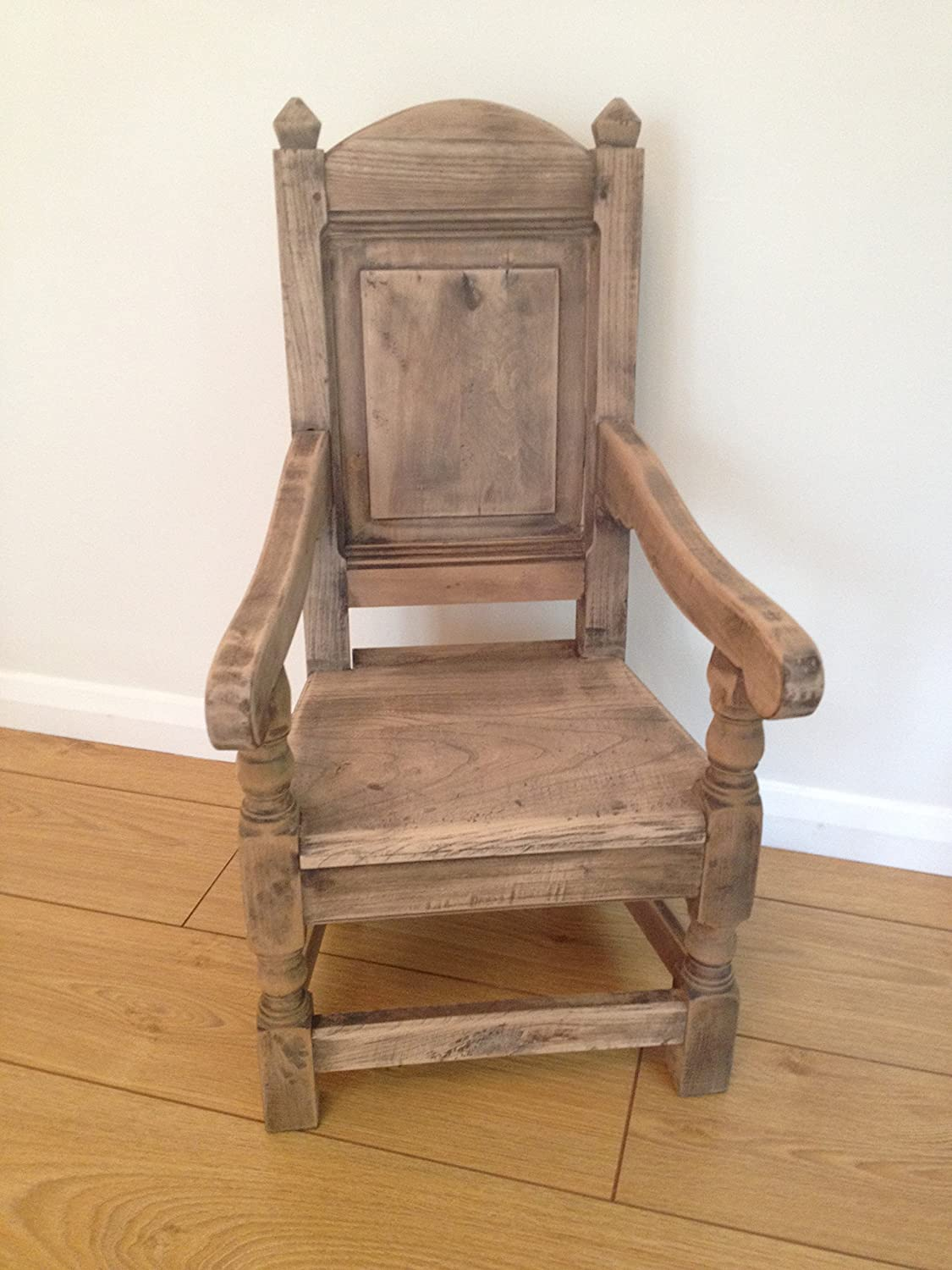 SOLID ELM NATURAL FINISH CHILD'S WAINSCOT CHAIR OWN