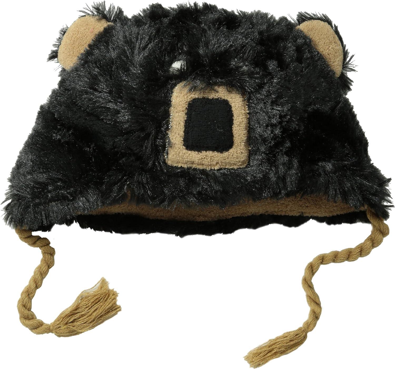 Hatley Little Boys Fuzzy Fleece Hats-Bear