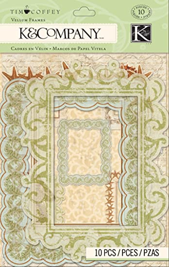 Amazon.com: K&Company Tim Coffey Travel Vellum Frames: Arts, Crafts ...