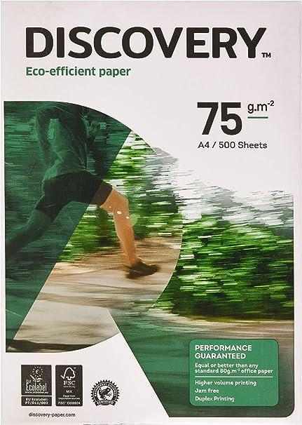 Discovery A4 75 gr - Paquete de 500 hojas: Amazon.es: Oficina y papelería
