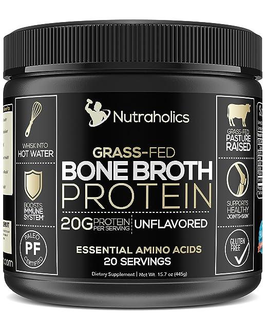 Bone Broth Protein Powder, Bovine Grass Fed Dietary Supplement