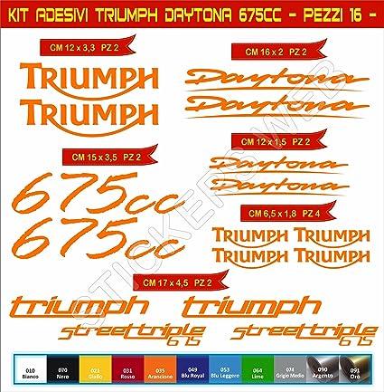 Pimastickerslab Adesivi Stickers Triumph Daytona STREETTRIPLE 675CC Moto Motorbike cod.0638