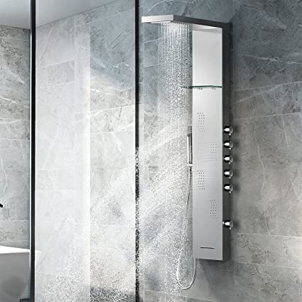 Shower Faucets 5 Ways Stainless Steel Waterfall Rain Shower Panel Wall Mounted Bathroom Shower Faucet Shower Panel Column Towel Shower Tub Tap Back To Search Resultshome Improvement