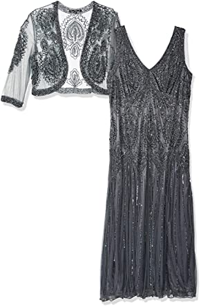 d0afef867f9 Amazon.com  Pisarro Nights Women s Plus Size Beaded Dress