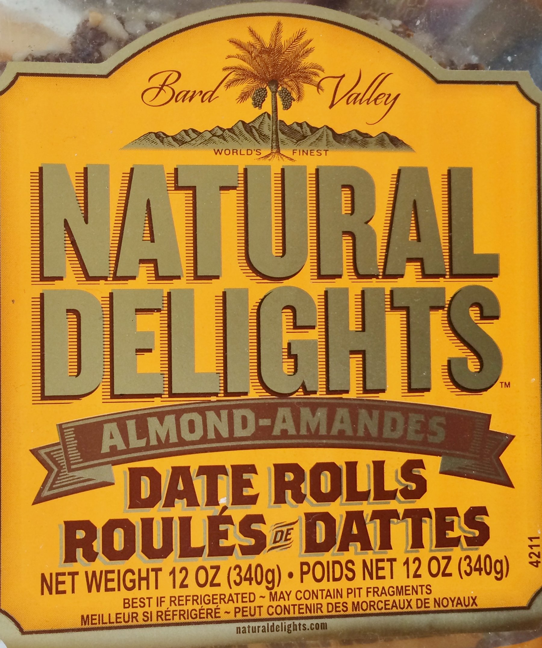 Natural Delights Almond Date Rolls, 12 oz