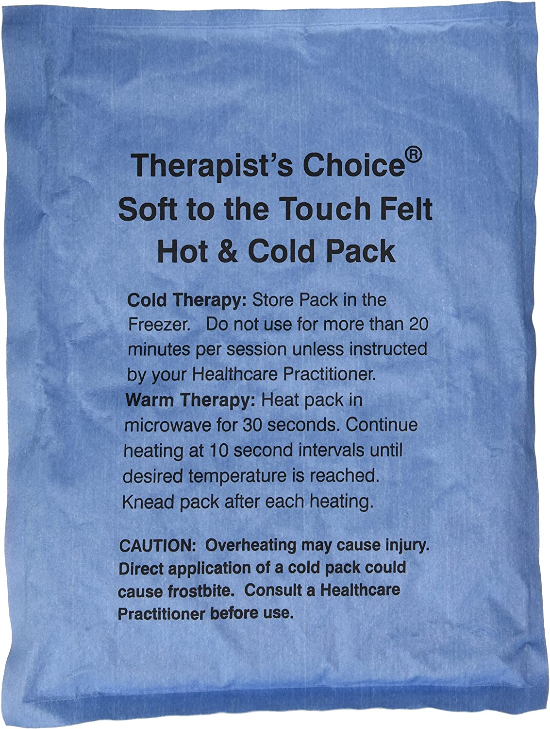 Therapists Choice Soft to the Touch Felt Hot & Cold Pack (10x13 ...
