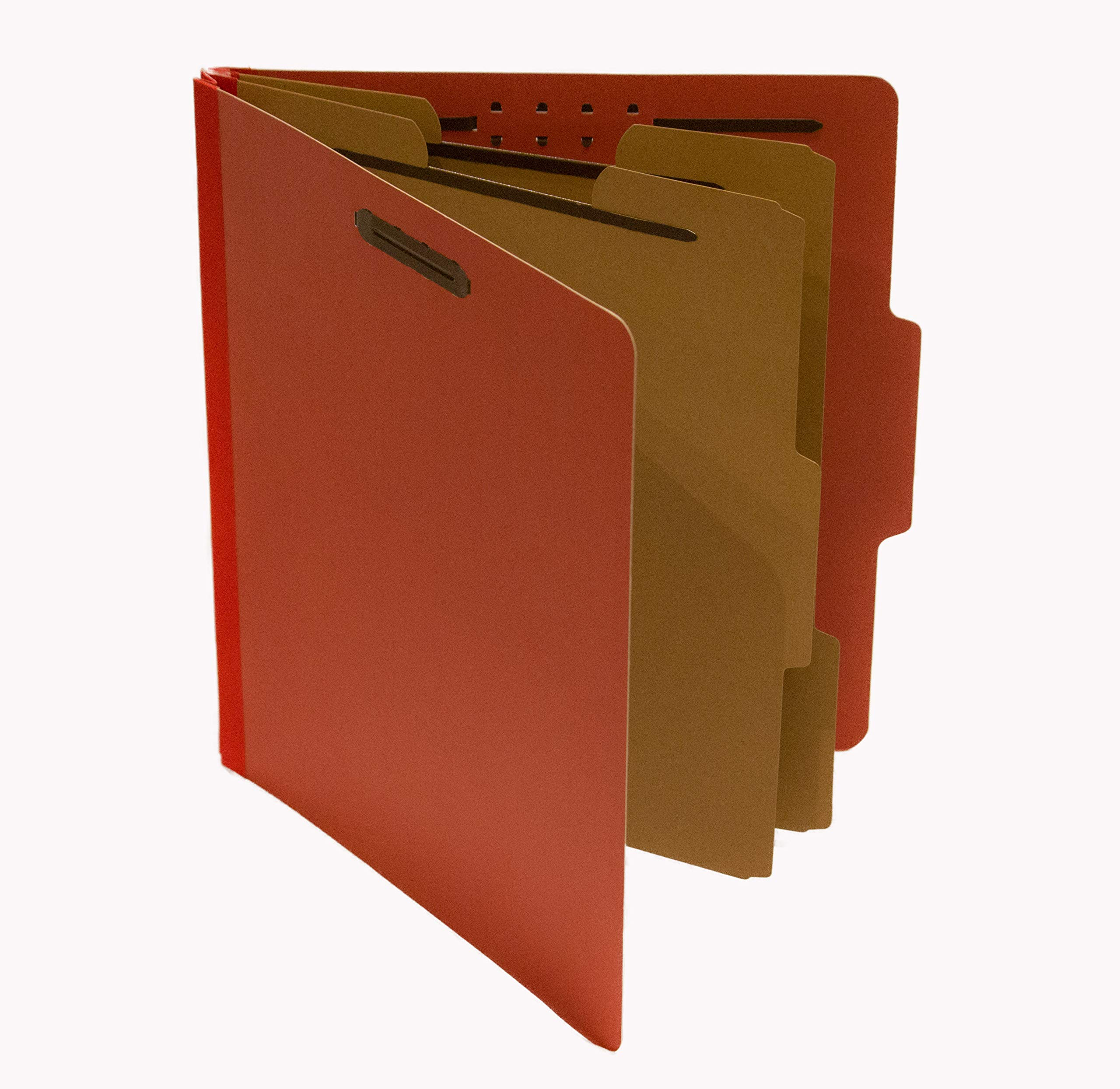 10 Letter Sized Classification Folders, Document Organizer Accordian Style with 2 File Dividers Used for Portable or Permanent File Storage. by PAS
