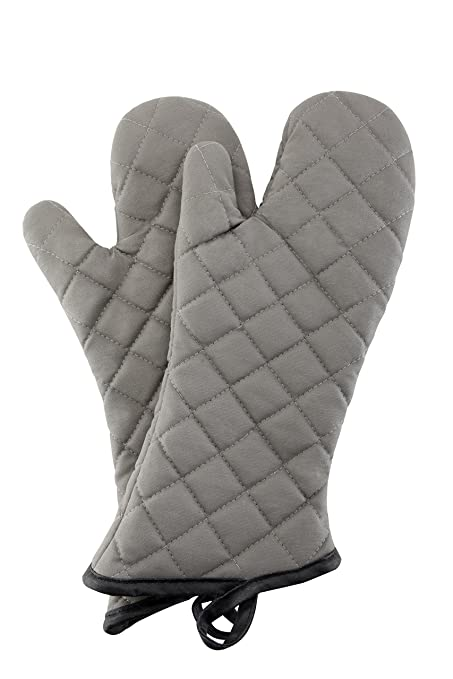 Charmant Oven Mitts 1 Pair Of Quilted Cotton Lining   Heat Resistant Kitchen  Gloves,Flame Oven