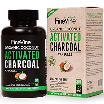 amazon com 100 pure charcoal capsules made in usa for detox