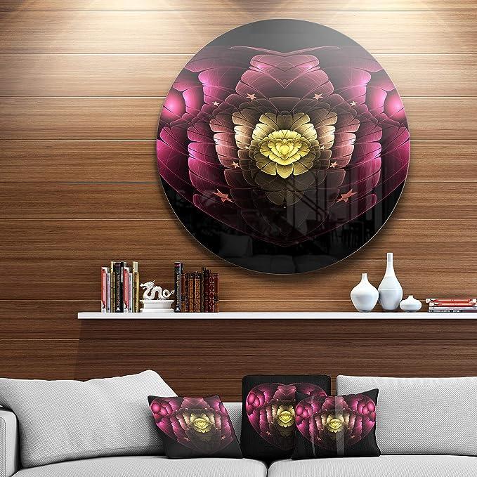 Designart Mt11867 C11 Isolated Heart Digital Art Fractal Flower Floral Disc Metal Artwork Disc Of 11 Pink 11 X 11 Amazon In Home Kitchen