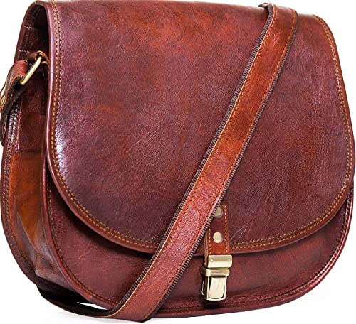 eb86f42ddd3 Urban Leather Crossbody Bags for Women Saddle Bag Purse Handbags Gift for  Young Women & Teen Girls | Genuine Leather Satchel Shoulder Bags Small Size  ...