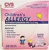Children's Alergy Diphenhydramine HCI 12.5 Mg 36 Rapid Melts
