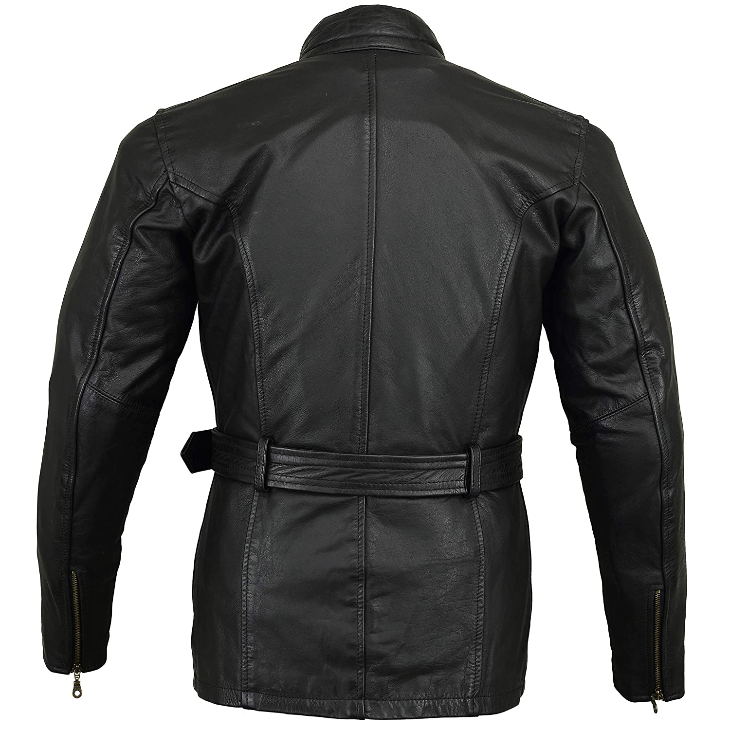 Coats & Jackets Discreet Leather Motorbike Motorcycle Jacket Short Biker Brown Distressed Ce Armoured Buy Now Parts & Accessories