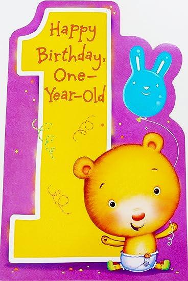 Happy Birthday One Year Old Greeting Card