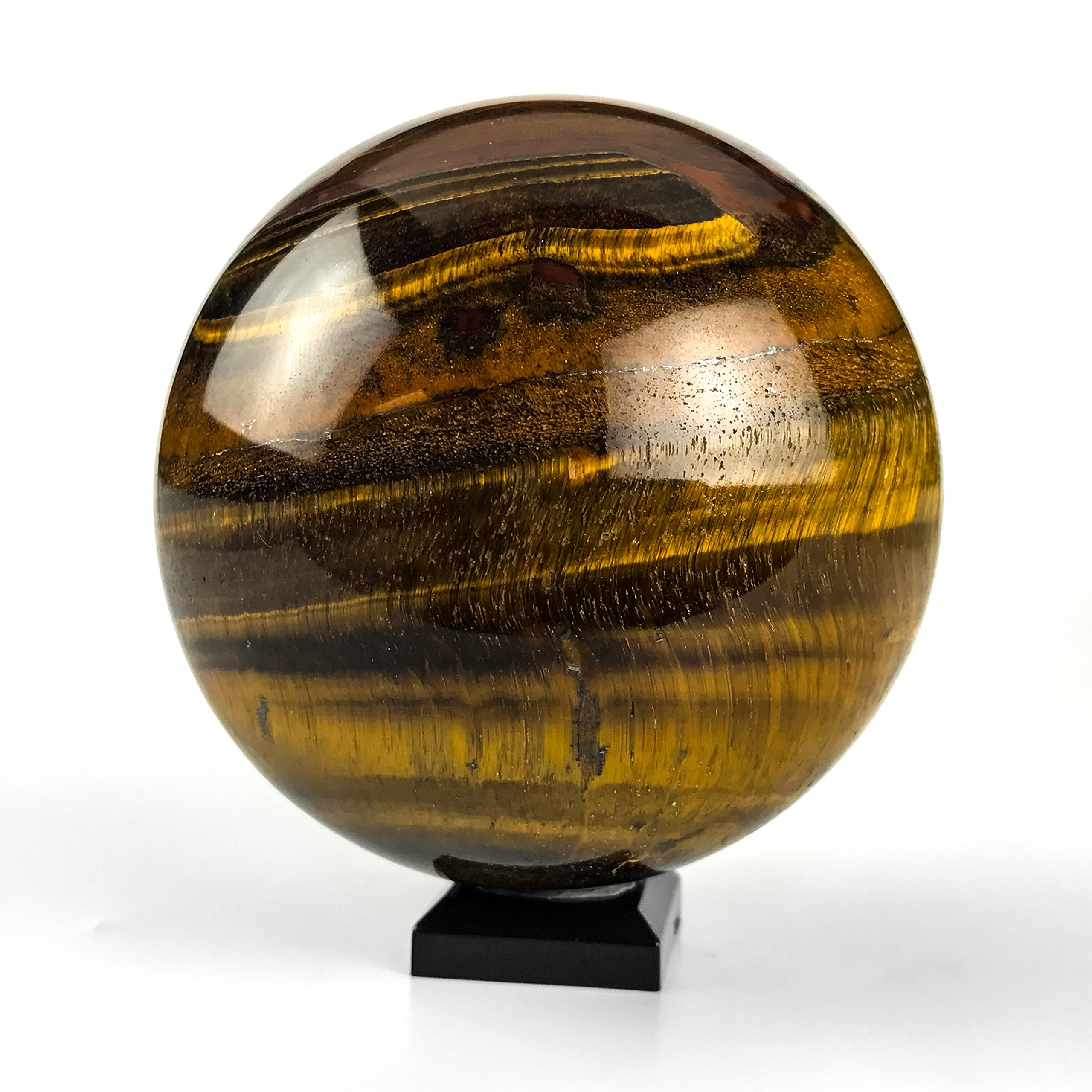 Astro Gallery Of Gems Polished Tiger Eye Sphere - 1. 15 LBS