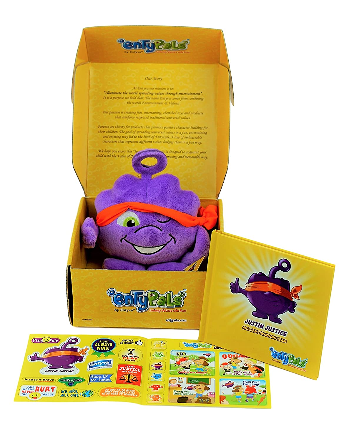 Learn The Value of Honesty in a Fun Way ENTYVA ENTYPALS Educational Book Plush and Stickers Set