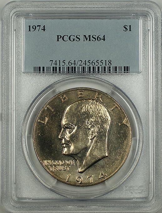 1974 Eisenhower Dollar Ike MS64 PCGS 64 Mint State