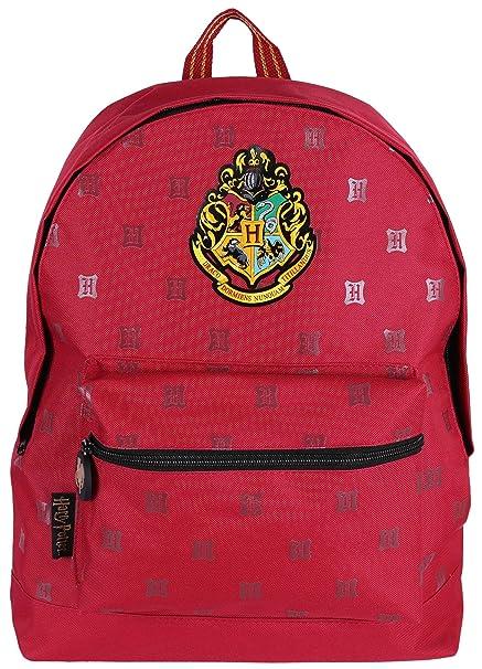 -:- Hogwarts -:- Harry Potter -:- Mochila roja: Amazon.es: Ropa y accesorios