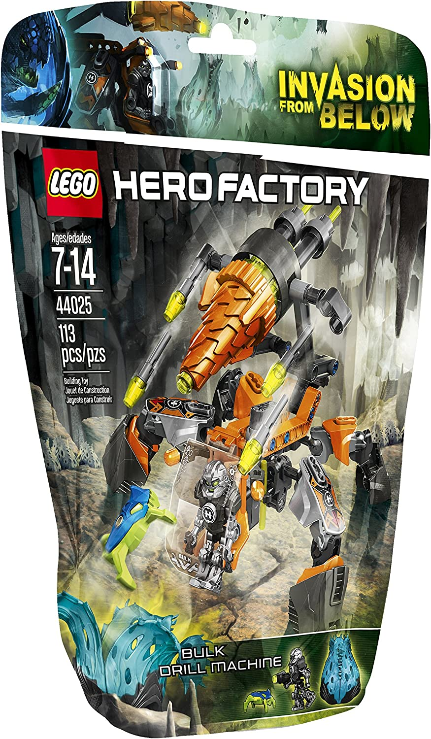 LEGO Hero Factory Bulk Drill Machine 44025 Building Set