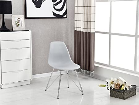 Pu0026N Homewares Valentina Eiffel Inspired Chair In Grey | For Kitchen, Living  Room, Dining