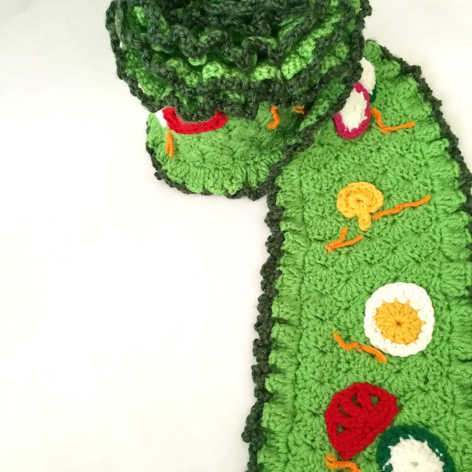 Amazon.com: crochet salad scarf with red tomatoes, orange carrots ...