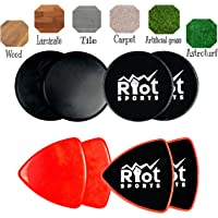 Riot Sports Core Sliders| Gliding Discs | Exercise Sliders | Dual Sided Exercise Discs for Core Exercises| For Carpet or Hardwood Floors | Full Body Workout, Compact for Travel or Home
