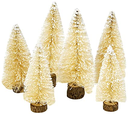 talking tables nordic bottle brush christmas tree decoration pack of 6 mini - Nordic Christmas Tree Decorations
