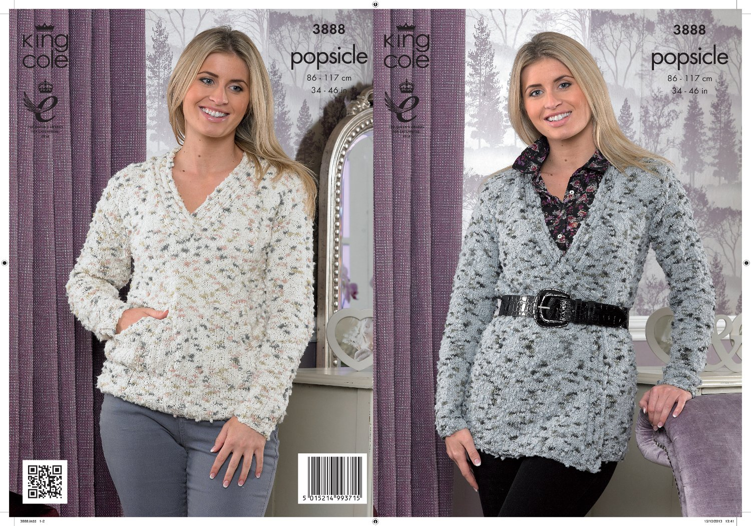 1116509fe King Cole Popsicle Knitting Pattern Ladies Soft Textured Wrap Around  Cardigan   Sweater 3888  Amazon.co.uk  Kitchen   Home