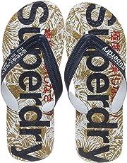 Superdry Printed Cork Flip Flop Mens Sandals Navy
