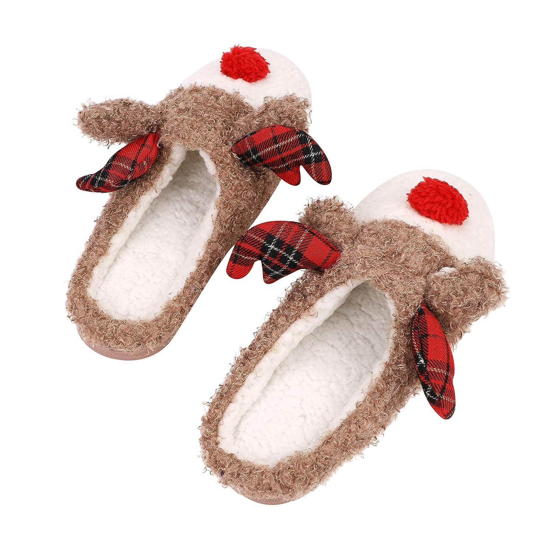 0b71ac055b8 Reindeer fuzzy christmas house slippers for women men nonslip memory foam shoes  slippers jpg 1500x1500 Christmas