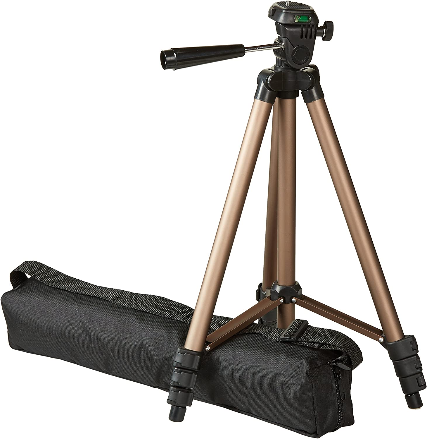 AmazonBasics Lightweight Camera Mount Tripod Stand With Bag - 16 5 - 50 Inches