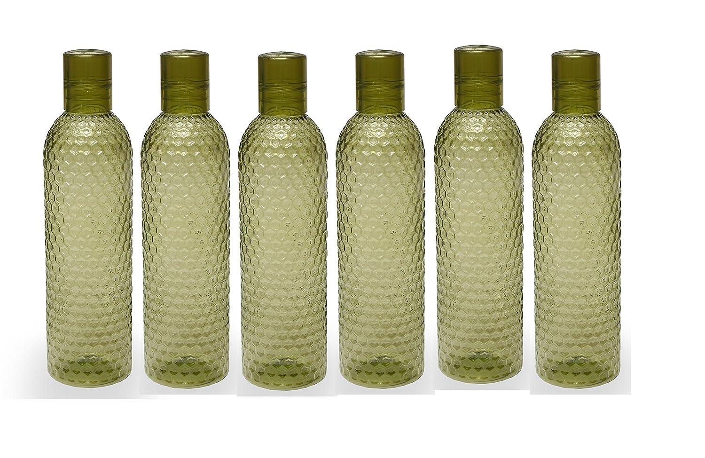 jaypee-plus-plastic-fridgewater-bottle-1-litre-rio-pack-of-6-green