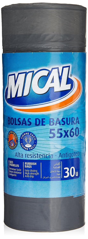 Mical Bolsas de Basura - 55 x 60 cm- 30 Unidades: Amazon.es: Amazon Pantry