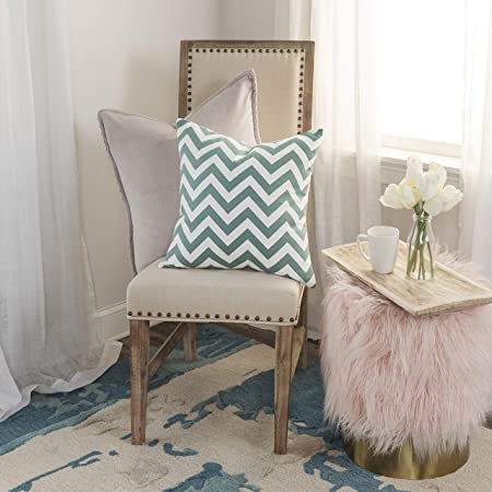 Rizzy Home T05290 Decorative Poly Filled Throw Pillow 18 x 18 Teal