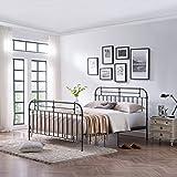 Amazoncom Motif Designs Aura Deluxe Platform Bed Black Twin