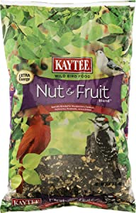 Kaytee Nut & Fruit Wild Bird Food Cherries,Peanuts,Raisins,Safflower,Striped,Striped Sunflower,Sunfl