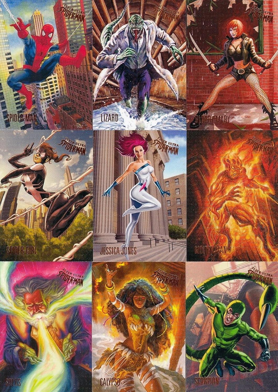 Complete 12 Card Milestones Insert Set 2017 Upper Deck Fleer Ultra Spider-Man