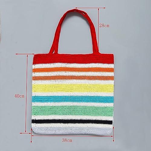 Amazon.com: Bolso de hombro de playa con ganchillo hecho a ...
