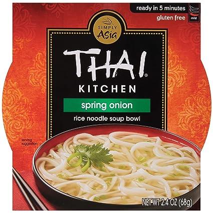Thai Kitchen Gluten Free Spring Onion Rice Noodle Soup Bowl 2 4 Oz Pack Of 36 Amazon De Lebensmittel Getranke