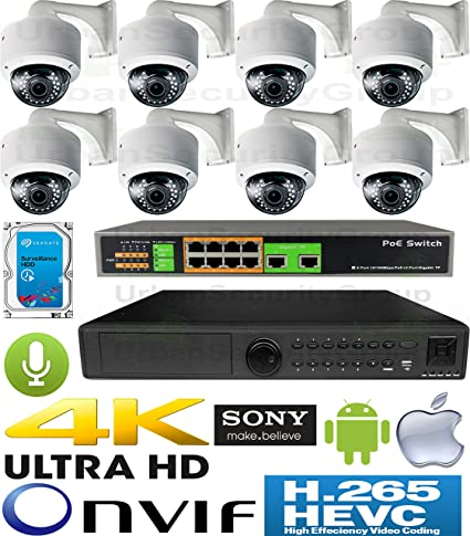 Amazon com : USG H 265 5MP Ultra 4K 8 Camera Security System PoE IP