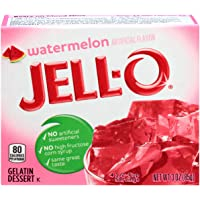 Jell-O Gelatin Dessert, Watermelon, 3-Ounce Boxes (Pack Of