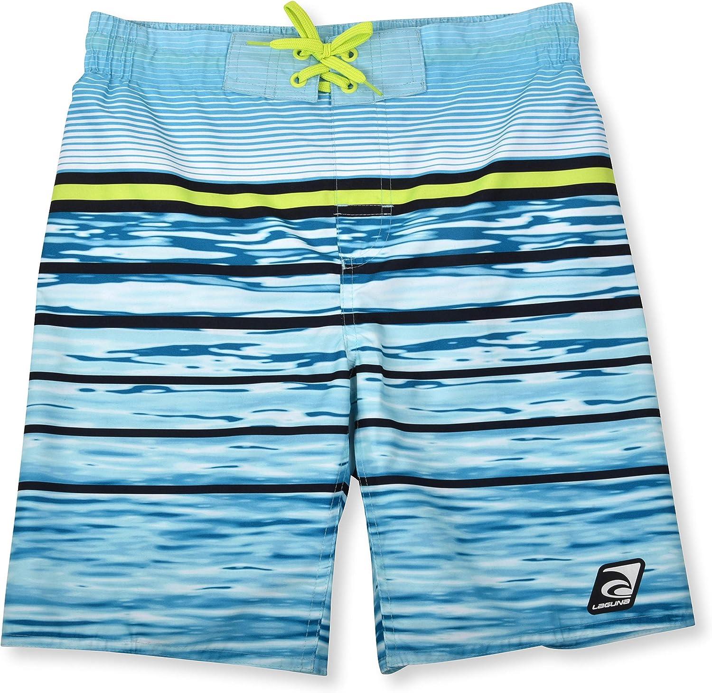 LAGUNA Boys Locked in Drawstring Boardshorts Swim Trunks UPF 50+